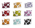 THICK SOFT CHENILLE POPPY FLORAL PRINTED CUSHION COVERS 100% POLYESTER / LOUNGE