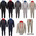 Mens Warm Sports Jogging Gym Athletic Hooded Joggers Top Bottom Full Tracksuits