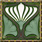 Внешний вид - Art Nouveau Reproduction Decorative Ceramic tile 185