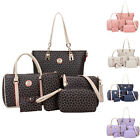 6 PCS Women Shoulder Bag PU Leather Tote Handbag Crossbody Bag Wallet Handbag