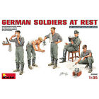 Mini-Art German Soliders at Rest - Plastic Model Military Figure 1/35 Scale