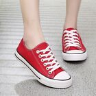 Womens Lady Classic Lace Up Low Help Shoes Casual Canvas Sneakers Flat Shoes