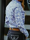 New Wrangler  Cora Printed Western Rodeo Show Campdrafting Shirt