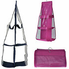 Storage Bags Pockets Hanging Wall Mounted Closet Clear Over Tidy Shelf Organizer