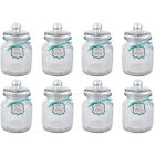 Giles and Posner QCJ186675 Extra Large Ribbed Glass Candy Jar Set of Eight