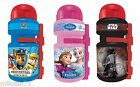 Disney Bike Cycle Plastic Water Bottle Bicycle FROZEN,STAR WARS,PAW PATROL 350ml