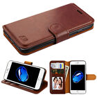 For Apple iPhone 7 Plus 7 Leather Flip Wallet Case Protective Stand Pouch Cover