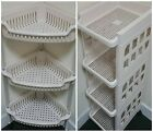 Plastic Bathroom & Kitchen Rack 3,4 Tier Rectangular Corner Vegetable Trolley