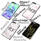 MONOGRAM PERSONALISED MARBLE EFFECTS BLACK INITIALS PHONE CASE COVER IPHONE