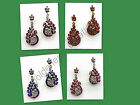 Choose Any color Peacock CzRhinestone Bollywood Hanging Earring-Karwachauth-13