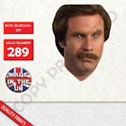 Ron Burgundy CARD FACE MASK MASKS FOR PARTY FUN HALLOWEEN FANCY DRESS UP