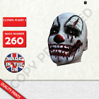 clown scary 2 CARD FACE MASK MASKS FOR PARTY FUN HALLOWEEN FANCY DRESS UP