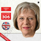 THERESA MAY PRIME MINISTER CARD FACE MASK MASKS FOR PARTY PROTEST FANCY DRESS