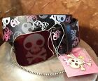 PINK COOKIE Belt Black Leather White Pink Gray Skull Etched Mirror Buckle Bones