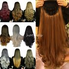 Half Wig Clip In Hair Piece 3 4 Wig Fall Long Synthetic Wavy Curly Straight KA