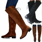 New Women TJn8 Black Brown Lace Over Knee Long Riding Boots size 6 to 10
