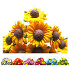 "Mini Mulberry Paper Sunflowers .9"" Flowers wedding & miniature - 50/pkg"