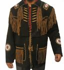 Men Western Indian Leather Jacket Beige, Quality Leather All Sizes