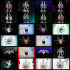 RHINESTONE HALLOWEEN BROOCH PIN NECKLACE EARRING~WOMEN COSTUME ACCESSORY COSPLAY