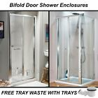 Bifold Shower Door Screen Enclosure, Side & Stone Tray Options