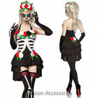 K148 Ladies Day Of Dead Mexican Skull Halloween Zombie Skeleton Dress Up Costume