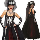 K246 Ms.Bones Jangles Day Of The Dead Skull Skeleton Gothic Halloween Costume