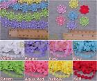 1~10Yards 1'' Width Lace Embroidered Flower Petal Fabric Sewing Applique Trim