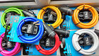M Wave 10mm x 1800mm Spiral Cable Lock Complete With Bracket 7 Colours