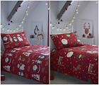 Kids Fun Father Christmas & Friends Duvet Cover and Matching Pillowcase Sets