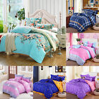 Duvet Quilt Cover W/ Pillow Case Cotton Bedding Set Twin Queen King Super King