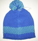 OLD NAVY Girls Hat Size 12 24 months Sweater Knit Pom Pom Beanie Blue NEW
