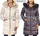 NEW WOMEN'S 1 MADISON HOODED DOWN WALKER COAT PARKA! LUXE DOWN! FAUX FUR VARIETY