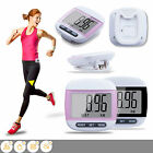LCD Digital Step Pedometer Walking Calorie Counter Distance Run Belt Clip New UK