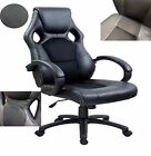 New Stylish Black Executive Office Computer Desk Chair Swivel Tilt Racer Style