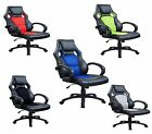 New Swivel Office Racer Gaming Style Tilt Faux Leather Computer Desk Chair