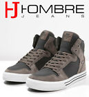 Scarpe Uomo Shoes SUPRA VAIDER Collo Alto Alte Sneakers Marrone INVERNO 2016/17