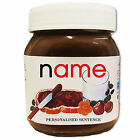 Personalised Name Nutella Label Birthday Christmas Halloween Ideal Gift Present