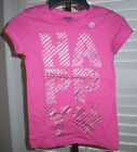 OLD NAVY Girls Shirt Size L 10 12 HAPPY Short Sleeve Cotton Tee Pink NEW