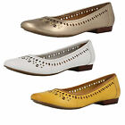 Ladies Clarks Henderson Hot Leather Casual Ballet Pump Style Slip On Shoes