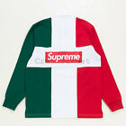 Supreme Split Rugby FW16 L/S Top box cap tee classic LS motion polo - Red