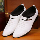 hot  Men's Formal Wedding Oxfords Casual Leather Shoes Pointed Toe Dress Shoes