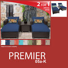 Premier 8 Piece Outdoor Wicker Patio Package PREMIER-05a-K - Navy