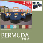 Bermuda 7 Piece Outdoor Wicker Patio Package BERMUDA-04a-K - Navy