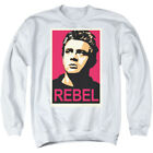 James Dean Hollywood Icon Rebel Change Campaign Poster Adult Crewneck Sweatshirt