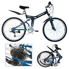 "Folding City / Mountain Bike 7 Speed Black 20 / 26"""" Bicycle Shimano Hybrid"