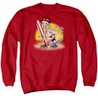 Betty Boop Cartoon Boop Surf Adult Crewneck Sweatshirt $34.95 USD on eBay