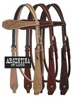 Showman BASKETWEAVE & FLORAL Tooled Argentina Cow Leather Headstall