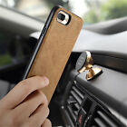 Vintage Genuine Leather Back Cover Magnetic Car Holder Case for iPhone 7 / Plus