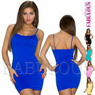 Sexy Sleeveless Bodycon Summer Mini Dress With Tummy Support Size 6 8 10 XS S M