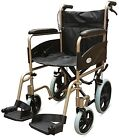 Z-Tec Folding Aluminium Transit 601X Wheelchair With Attendant Handbrakes
